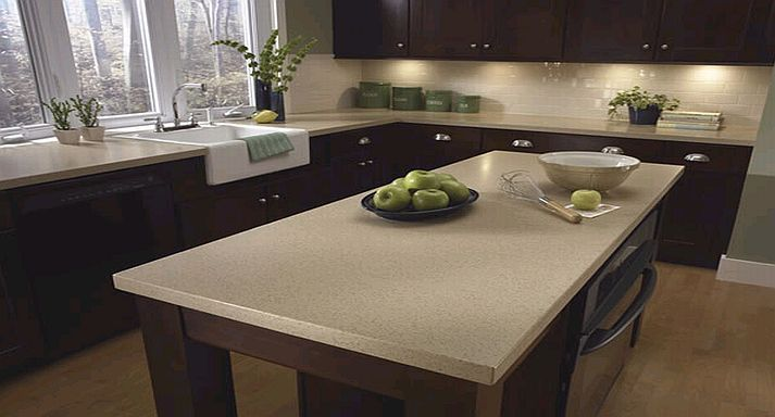 Light Quartz Countertop With Dark Cabinets Kitchens Pinterest Countertop