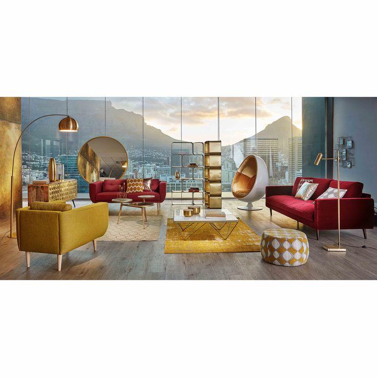 Aparador con 3 puertas de mango macizo y metal con efecto dorado Gatsby | Maisons du Monde