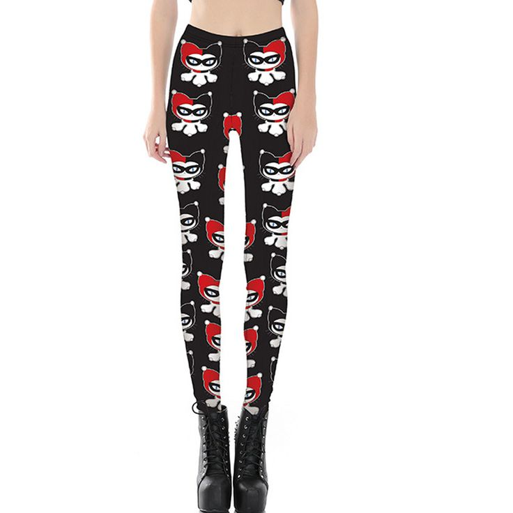 Summer Style Fashion Women Fitness Leggings New Funny Cartoon Clowns pants Slim Leggings Dropshipping #Affiliate