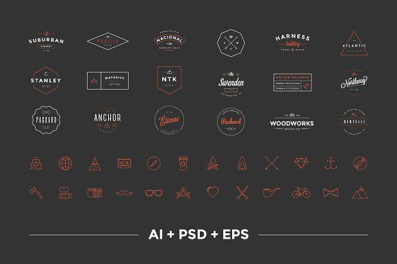 @newkoko2020 Hipster Vintage Logo Pack by Victor Barac on @creativemarket #bundle #set #discout #quality #bulk #buy #design #trend #vintage #vintagegraphic #graphic #illustration #template #art #retro #icon