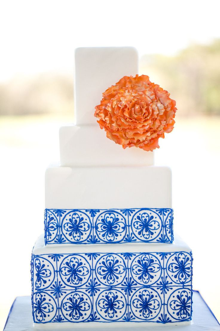 Spanish themed wedding  Blue and orange wedding details Photography by www.amalieorrangephotography.com, Event Design by Mobella Events, Floral Design by Lee Forrest Design