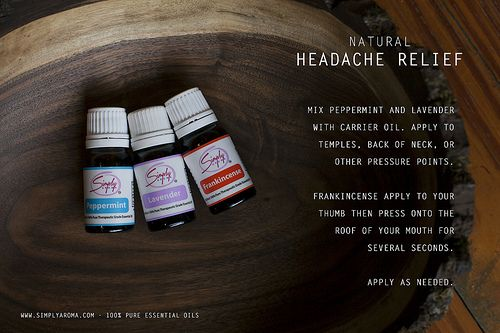 Cure a headache using Essential Oils from Simply Aroma!  www.simplyaroma.com/heavenscent4u