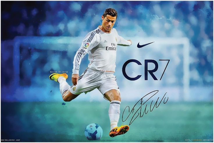 CR7 Ronaldo Poster A1 Large 900x600mm 180um Synthetic Paper Fast Postage