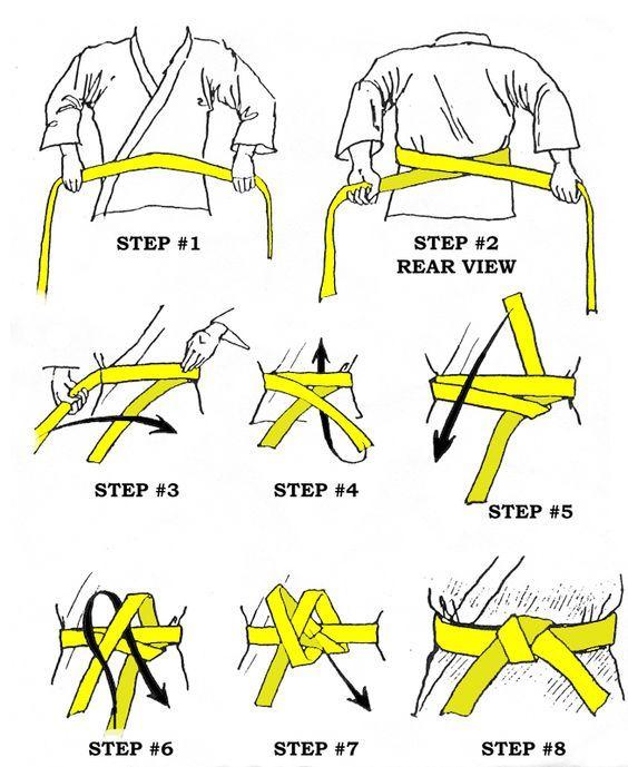 Tighten the belt in kimono