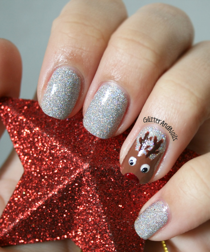 Glitter and Nails: Rudolph the red nosed reindeer, falalalalaaaa