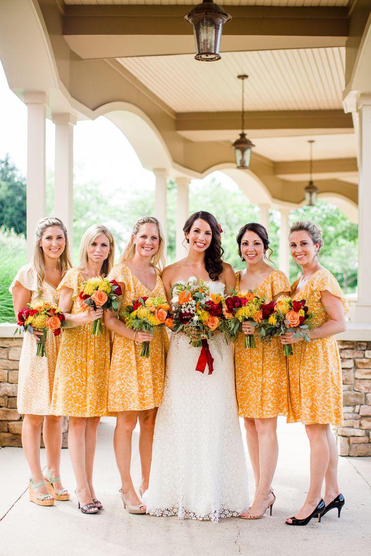 228 best bridesmaids images on pinterest bridesmaids dc rustic yellow wedding at virginias clydes at willow creek farm dc weddingsyellow weddingspatterned bridesmaid dresseswashington ombrellifo Choice Image