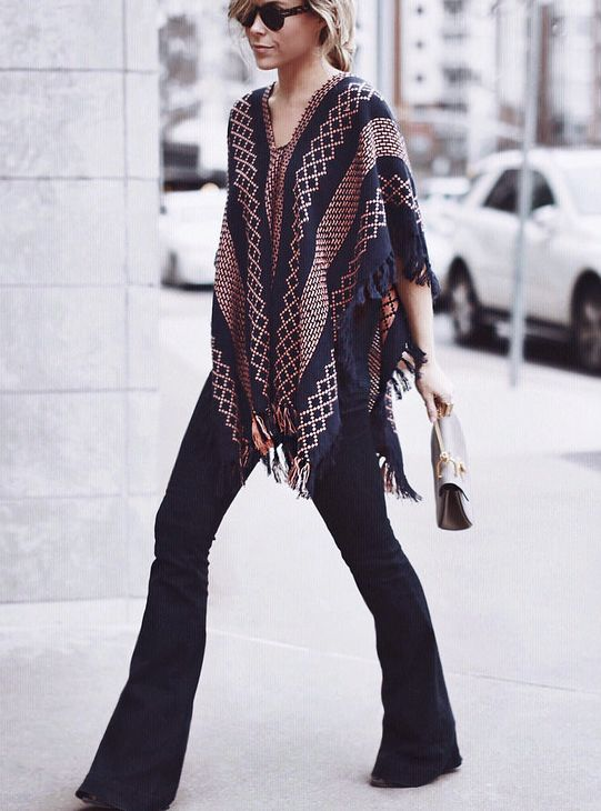 Shawl black trousers. Street women fashion outfit clothing style apparel @roressclothes closet ideas