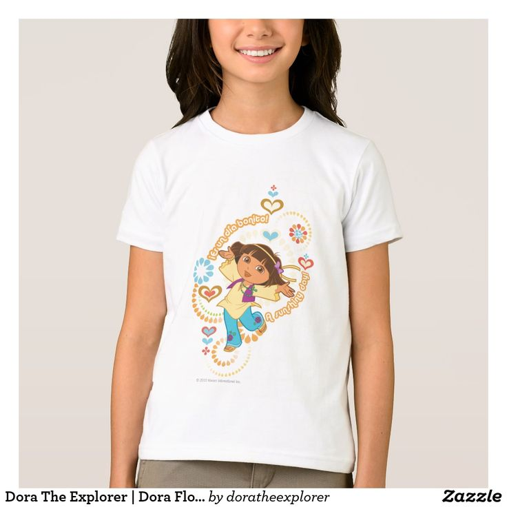 Dora The Explorer | Dora Flower Child. T-Shirt. Producto disponible en tienda Zazzle. Vestuario, moda. Product available in Zazzle store. Fashion wardrobe. Regalos, Gifts. Trendy tshirt. #camiseta #tshirt
