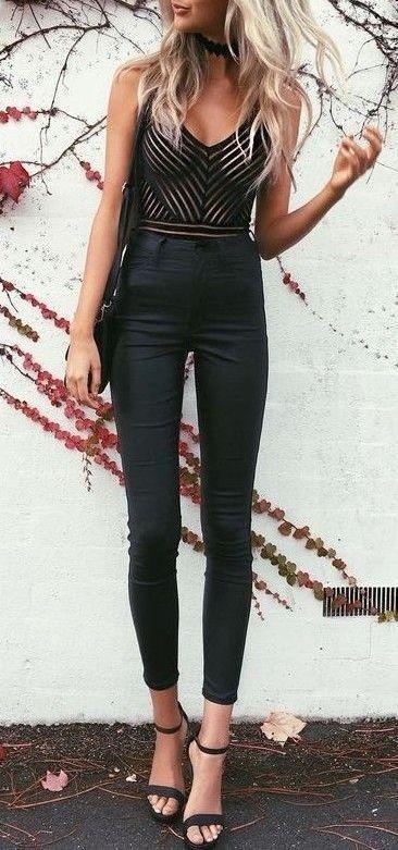 #summer #fashion / black + black