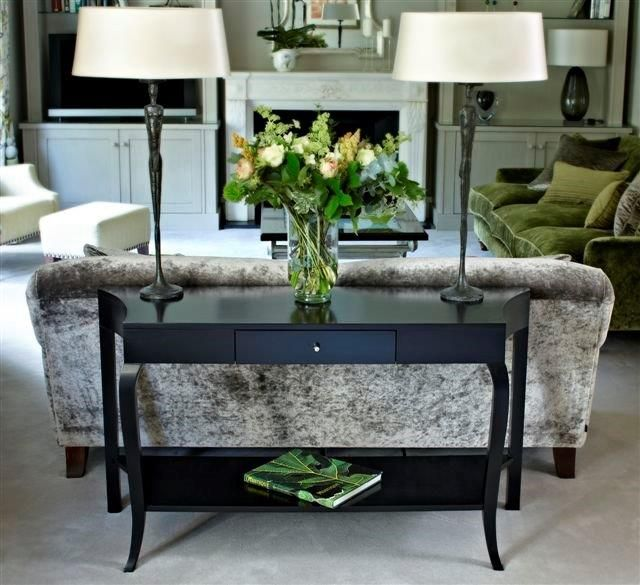 Danvers Console Table, Interior Design by Jenny Blanc Interiors, photo by Steve Dalton