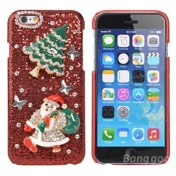 Christmas Gift Luxury Hard Crystal Handmade Bling Case For iPhone 6…