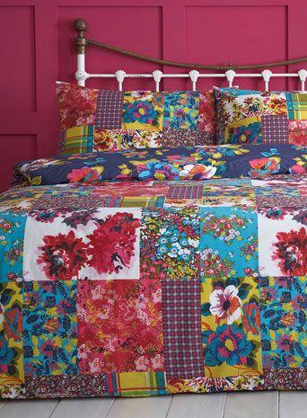 Floral Patchwork Bedding Set - bedding sets - bedding sets - bedding - Home, Lighting & Furniture