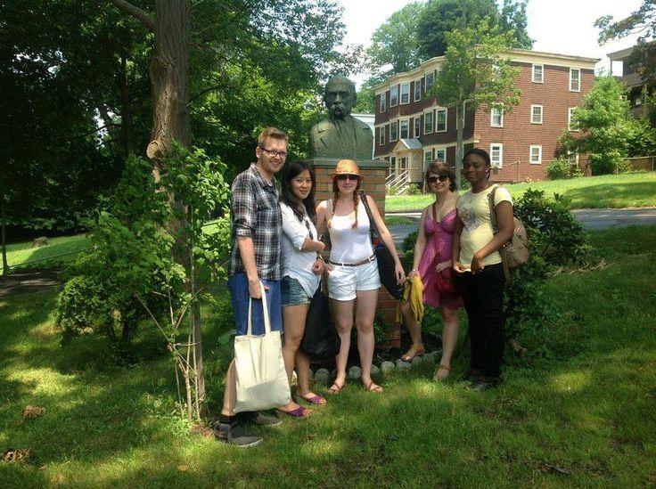 Taras with Mateusz, Rujing, Ulyana, Olya and Marusia-Eru in Boston, USA