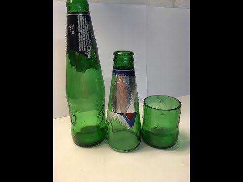 Comment et pourquoi couper en deux une bouteille en verre - YouTube