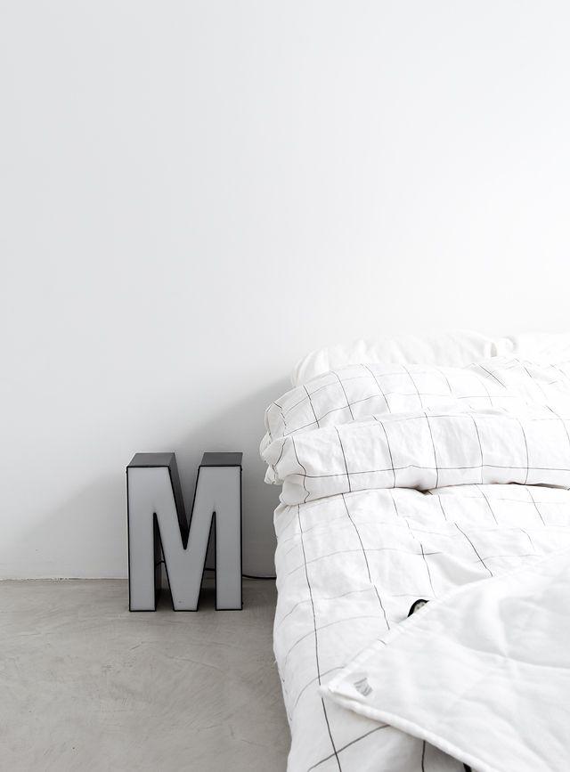 Via Musta Ovi | Bedroom | White | HAY | Letter M Light