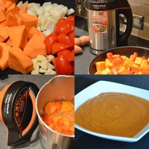 Sweet Potato and Red Pepper Soup in a Soup Maker