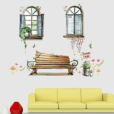 Frankie™  DIY Decorative Stickers Cartoon Building Can Be Removed – AUD $ 18.88