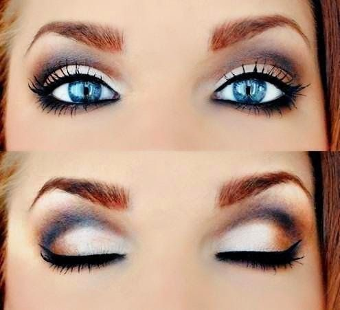 maquillage yeux bleus fard a paupiere