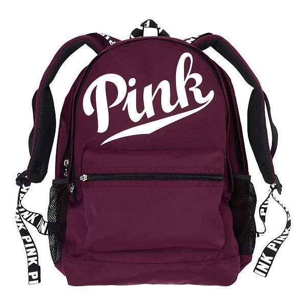 PINK Campus Backpack ($50) ❤ liked on Polyvore featuring bags, backpacks, nude, pocket backpack, laptop bags, day pack backpack, shoulder strap backpack and laptop pocket backpack