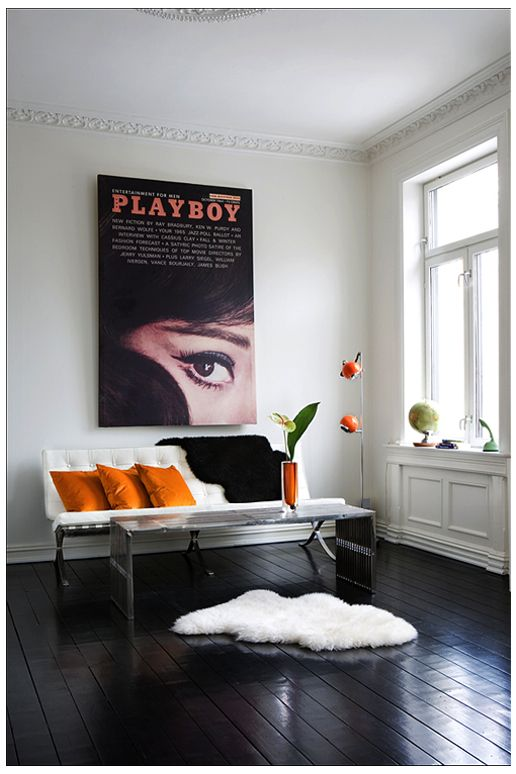 orange and vintage playboy.