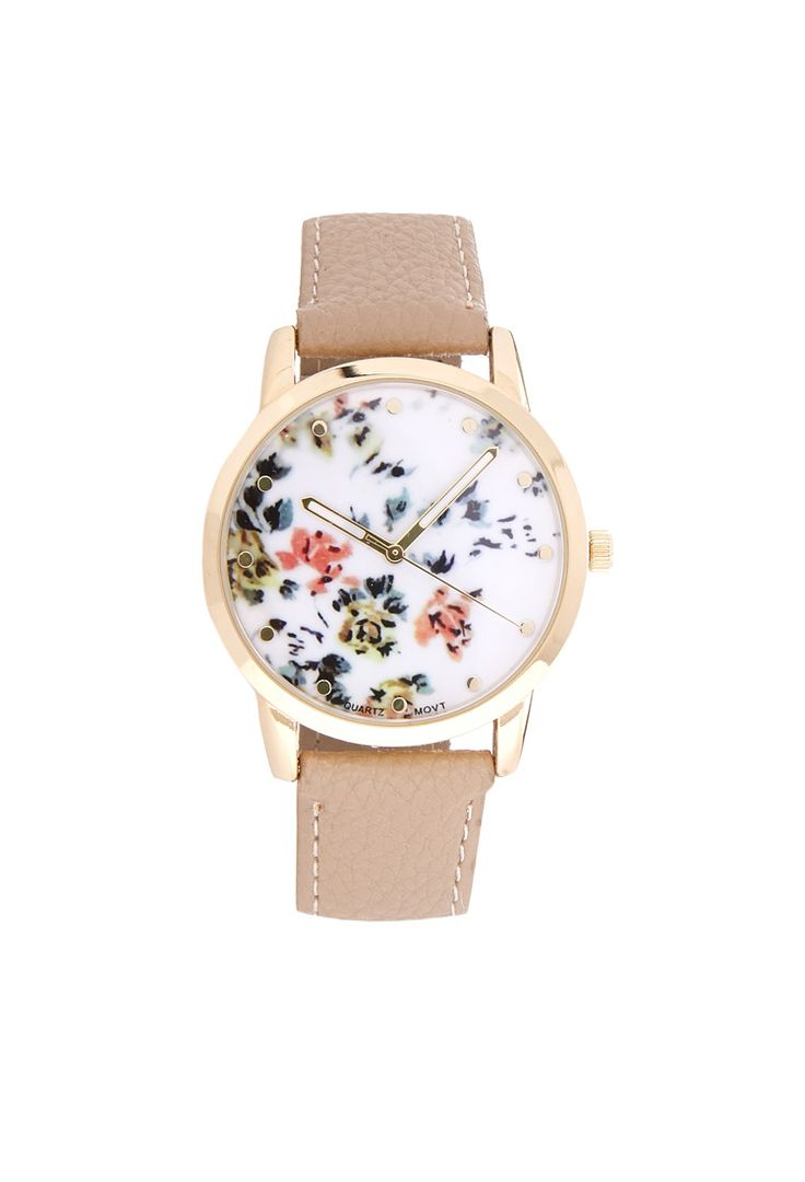 Painted Floral Watch   FOREVER21 #Watch #Accessories #Floral