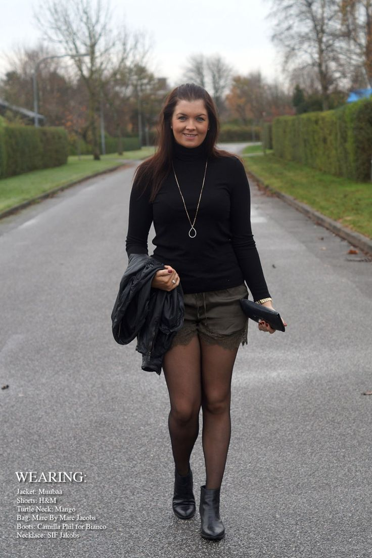 Wearing my lovely turtleneck from Mango, my lace shorts from H&M, so pretty - also wearing my small Marc Jacobs clutch and my boots from Camilla Phils collection for Binaco shoes.  More on my blog: www.everyday-couture.dk  #lace #boots #blackboots #black #sif #jakobs #sifjakobs #green