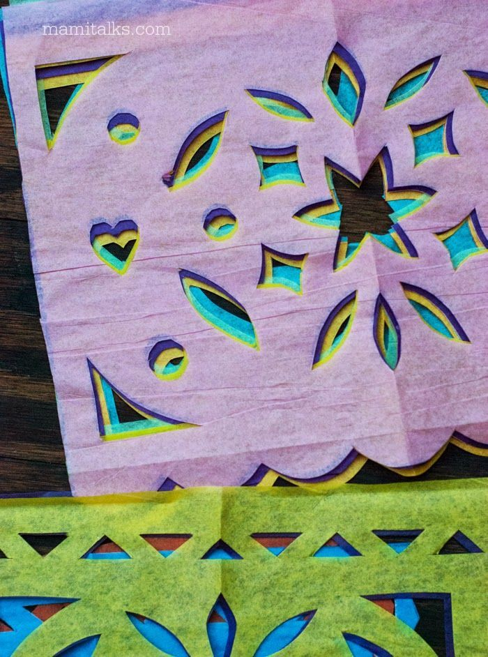 Mami Talks™: Papel Picado Templates