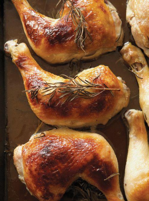 Cuisses de poulet au miel  et au romarin Recettes   Ricardo