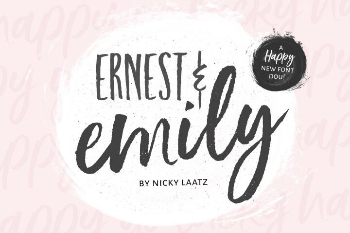 Ernest & Emily Font Duo By Nicky Laatz #font #lettering #type #typeface -partner link