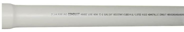 "J-M 67512 Schedule 40 Heavy Duty PVC Conduit, 3"" X 10'"