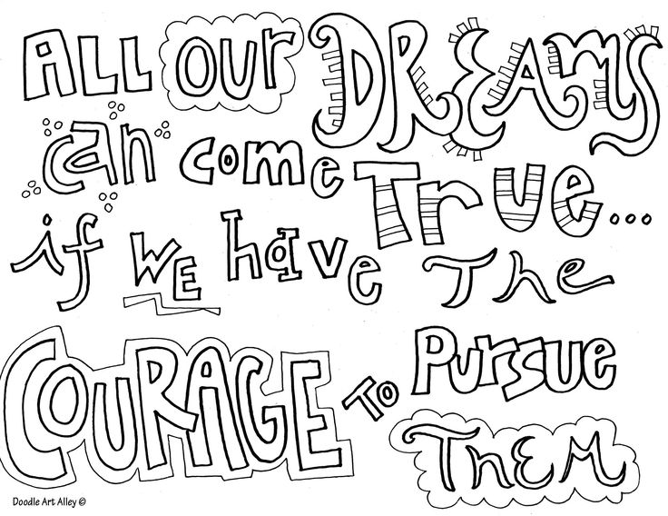 allourdreamsjpg diy adulteducational quotescoloring sheetsquote - Friends Quotes Coloring Pages