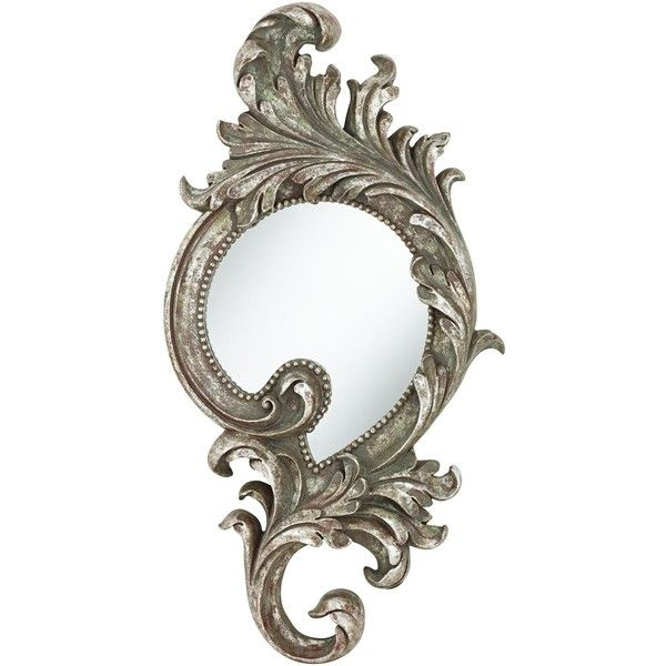 "Rosilini Silver Leaf 16 1/2"" x 31 1/2"" Wall Mirror found on Polyvore"