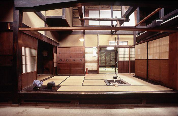 Interior of a 19th Century merchant's house, the Matsumoto House, in Takayama, Japan.
