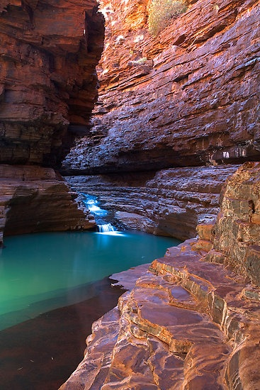 Kermits Pool by aabzimaging  This pool in Karijini National Park / Western Australia is a bit hard to get to but well worth the effort.