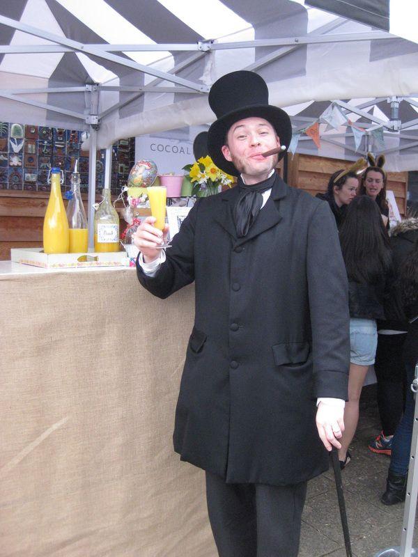 Mr Brunel samples the tastes on offer at the market.