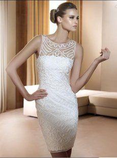 5 vestidos cortos de novia | Preparar tu boda es facilisimo.com