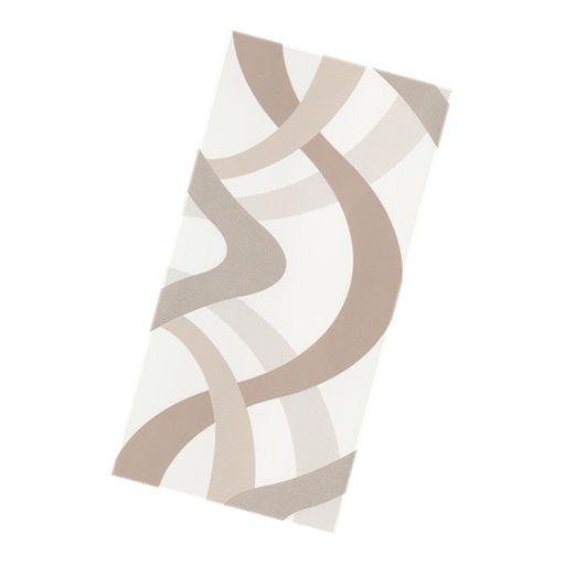 Serena Ribbon White Insert  300X600mm 08128D Beaumont Tiles