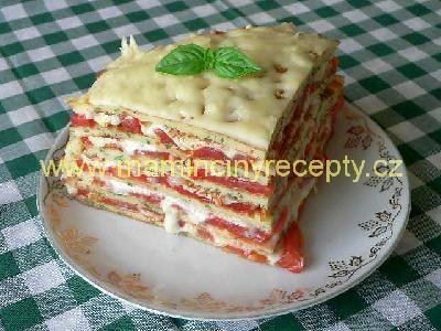 Amoletový dort s rajčaty