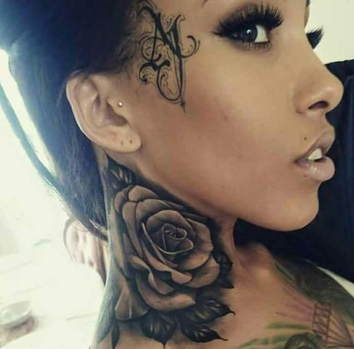 Pin By Woman A On Tattoo Neck Tattoos Women Neck Tattoo Cover Up Rose Neck Tattoo