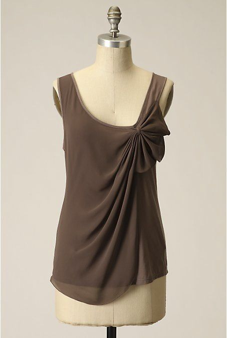 So elegant. Swept-away top by Anthropologie.