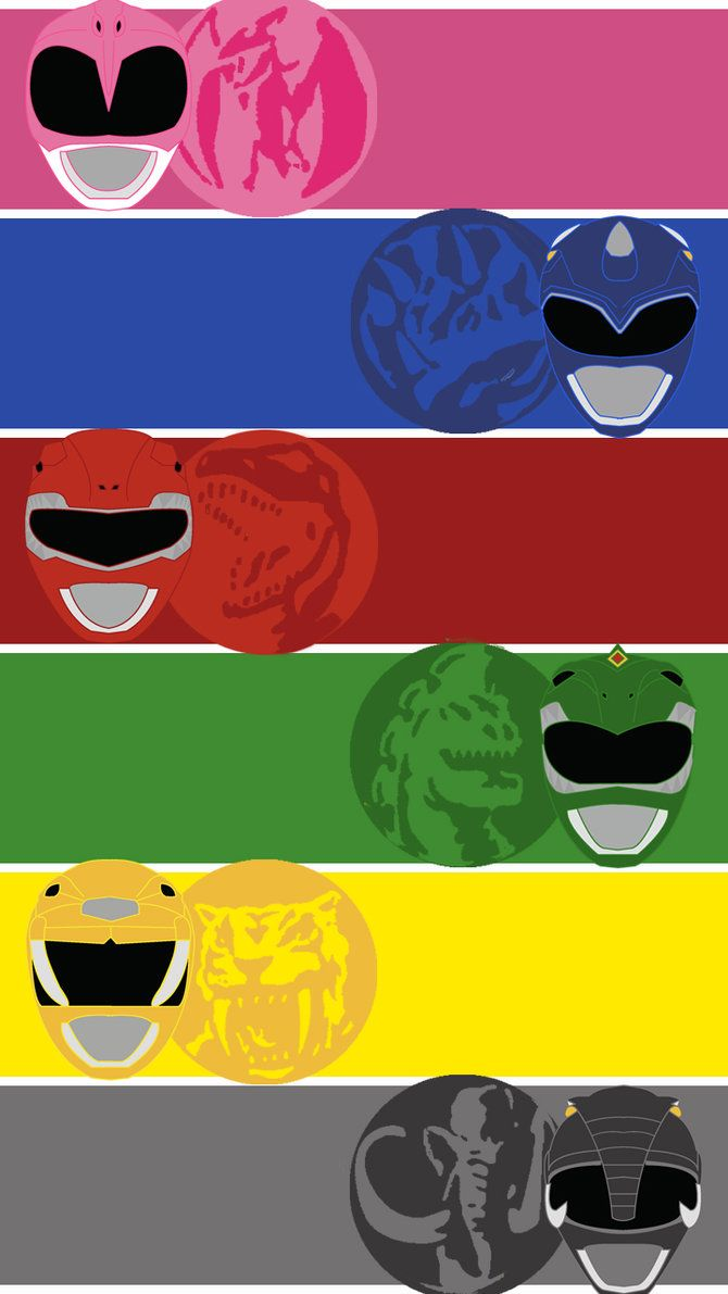 Mighty Morphin Power Rangers Mobile Wallpaper by mexicoknight