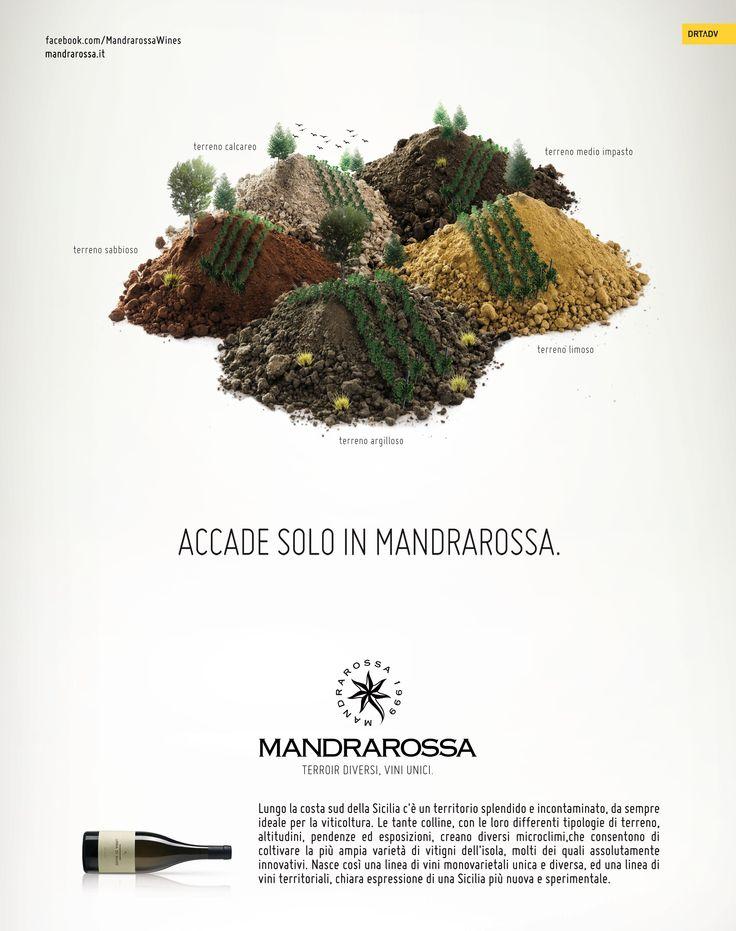 Secondo soggetto per la campagna stampa istituzionale per Mandrarossa firmata DRT #advertising