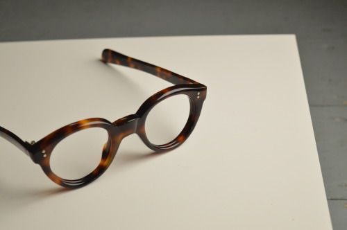 "Fresh off the General Eyewear presses ""the Shelley,"" a quality benchmark of contemporary British eyewear, hand made and polished.  Available as featured to purchase now in store, or in other colourways to order."