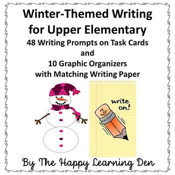 winter writing prompts elementary These fun writing prompts make great handwriting practice plus sentence composition use them for quick classroom filler activities or writing homework each series of.