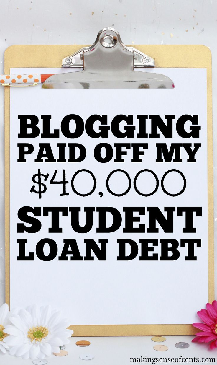 I was able to pay off my $40,000 student loan debt mainly by blogging. If you are interested in paying off student loans, check this blog post out!