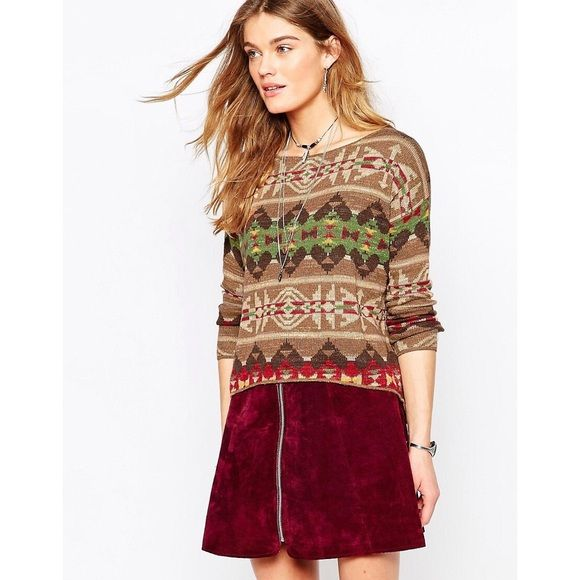 Denim & Supply by Ralph Lauren Aztec Jumper Such a cute jumper! Lightweight enough for any season. Smaller sizes can wear this oversized. No stains or holes. In great condition! Please ask if you have questions. No trades please, open to offers. Ralph Lauren Sweaters Crew & Scoop Necks