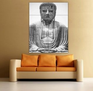 http://www.bawtie.com/decor-and-design-your-room-with-oversized-wall-art/ Decor and Design Your Room with Oversized Wall Art : Large Wall Art Large Buddhist Statue Head Wall Art Big Buddha Poster Ebay Oversized Wall Art