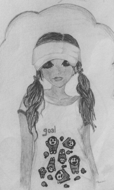 Pencil drawing b&w;)