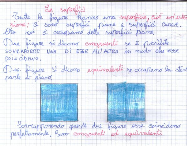 didattica matematica scuola primaria: Il concetto di area - classe quarta