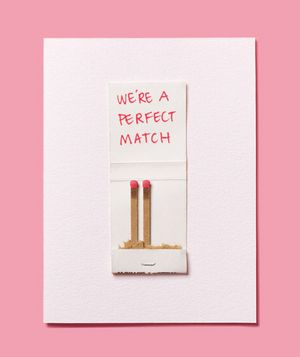 Turn a spare matchbook into a homemade Valentine's Day card with a marker and a bit of glue.